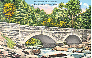 Bridge  on Newfound Gap Highway,TN Postcard (Image1)