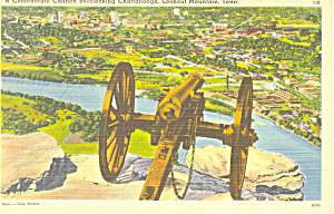 Confederate Cannon Lookout Mountain TN Postcard p17976 (Image1)