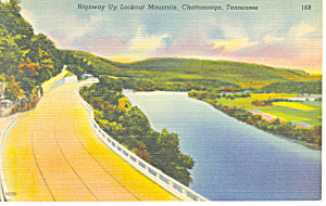 Highway Up Lookout Mountain TN Postcard p17980 (Image1)