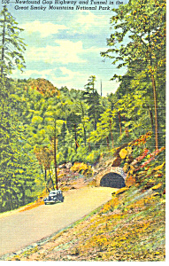 Newfound Gap Highway Tunnel,TN Postcard (Image1)