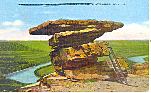 Rock Formation Lookout Mountain TN Postcard p17994 1948 (Image1)