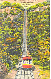 Incline Chattanooga Lookout Mountain TN Postcard p17998 (Image1)