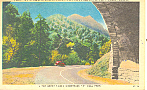 Chimney Tops Smoky Mountains National Park TN Postcard p18000 1959 (Image1)