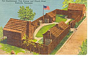 Fort Nashborough Nashville TN Postcard p18006 1961 (Image1)