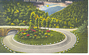 Loop Over on  Newfound Gap Highway ,TN Postcard (Image1)