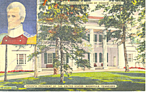 Home at The Hermitage ,TN Postcard 1945 (Image1)
