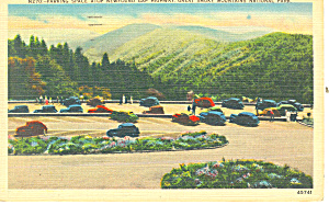 Parking Space Newfound Gap ,TN Postcard (Image1)