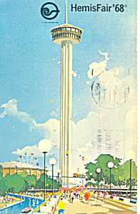 Hemisfair 68 San Antonio TX  Postcard p18036 1968 (Image1)