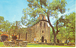 Mission San Francisco, San Antonio, TX Postcard (Image1)