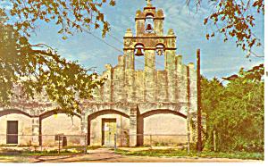 Mission San Juan de Capistrano, TX Postcard (Image1)