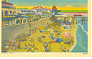 Beach at GalvestonTexas Postcard (Image1)