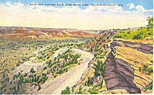 Palo Duro State Park Texas Postcard p18069 1944 (Image1)