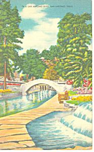 San Antonio River,San Antonio,Texas Postcard (Image1)