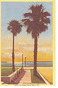 Sunrise Corpus Christi Bay Texas Postcard p18080 (Image1)