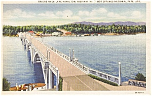 Hot Springs AR Lake Hamilton  Postcard (Image1)