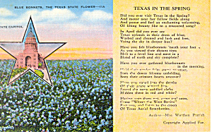 Words to Texas in The Spring, by Parrish Postcard (Image1)