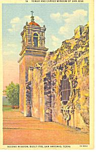 Mission San Jose, San Antonio, TX Postcard (Image1)