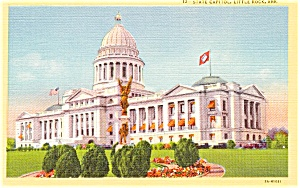 Little Rock AR State Capitol  Postcard p1810 (Image1)