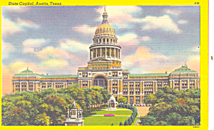State Capitol Austin TX Postcard p18110 (Image1)