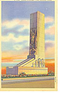Alamo Cenotaph San Antonio TX Postcard p18111 (Image1)