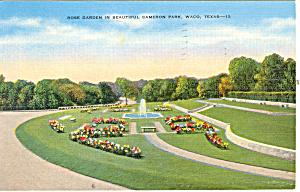 Rose Garden Cameron Park Waco TX Postcard p18114 (Image1)