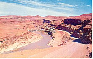 San Juan River at Medicine Hat UT Postcard p18122 1958 (Image1)