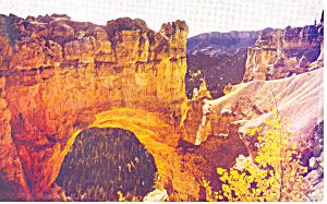 Natural Bridge Bryce Canyon National Park UT Postcard p18125 (Image1)