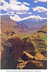 Colorado River Valley Utah Postcard p18128 (Image1)