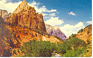 First Patriarch Zion National Park UT Postcard p18143 (Image1)