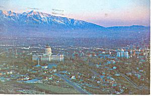 State Capitol Aerial View UT Postcard p18145 1959 (Image1)