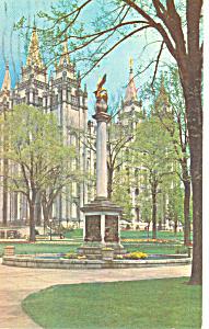 Seagull Monument Salt Lake City UT Postcard p18149 1960 (Image1)