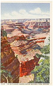 The Battleship Grand Canyon  AZ   Postcard p1814 (Image1)