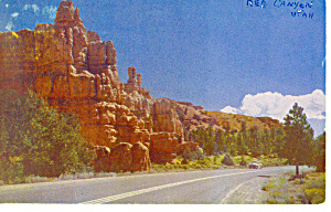 Red Canyon,Bryce Canyon National Park UT Postcard (Image1)