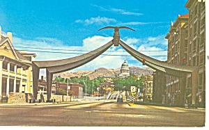 Eagle Gate Salt Lake City UT Postcard p18154 1975 (Image1)