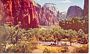 Temple Sinawava,Zion National Park UT Postcard (Image1)