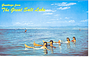 Great Salt Lake UT Postcard p18164 (Image1)