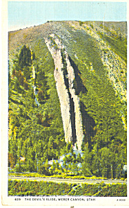 Devils Slide Weber Canyon UT Postcard p18165 1936 (Image1)
