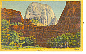 Great White Throne Zion National Park Ut Postcard P18166