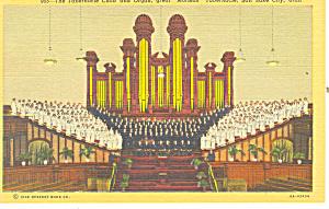 Temple Choir and Interior  Salt Lake City UT Postcard p18169 (Image1)
