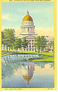 State Capitol Salt Lake City UT Postcard p18171 (Image1)