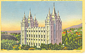 Mormon Temple Salt Lake City UT Postcard p18175 (Image1)