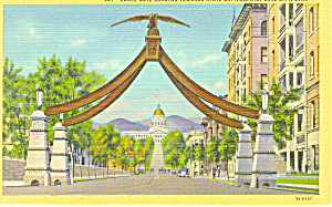 Eagle Gate Salt Lake City UT Postcard p18177 (Image1)