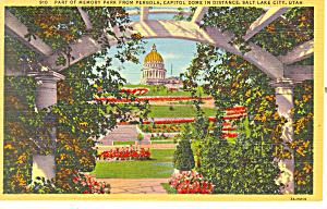 Memory Park Salt Lake City UT Postcard p18181 (Image1)