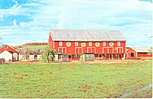 Hex Signs On Barn Kutztown Pa Postcard P18185a