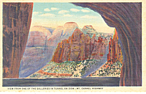 View in Zion National Park UT Postcard p18195 (Image1)