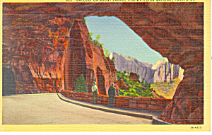 Gallery Zion National Park UT Postcard p18198 1943 (Image1)
