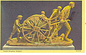 Mormon Hand Cart UT Postcard p18202 (Image1)