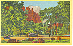 Temple Sinawava Zion National Park UT Postcard (Image1)
