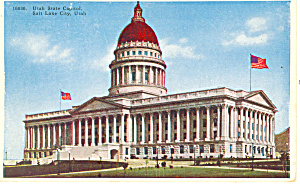State Capitol Salt Lake City Ut Postcard P18218
