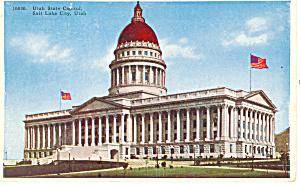 State Capitol Salt Lake City UT Postcard p18218 (Image1)